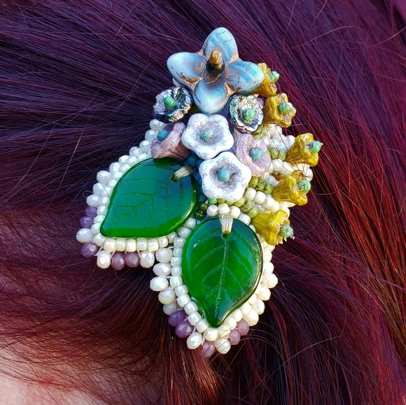 Made By Me Floral Hair Jewelry Clip